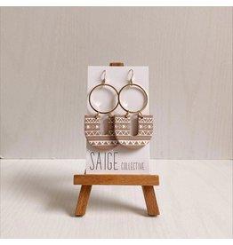 Saige Collective Reiya - Terracotta Tribal Clay Earrings
