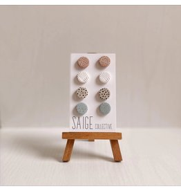 Saige Collective Sophie Studs - Quad Pack Assorted Clay Earrings
