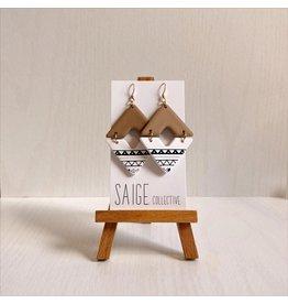 Saige Collective Vienna - Sedona Print Clay Earrings