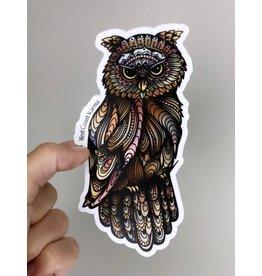 West Coast Karma Owl Color Sticker