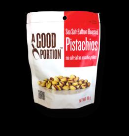 A Good Portion Sea Salt Saffron Roasted Pistachios