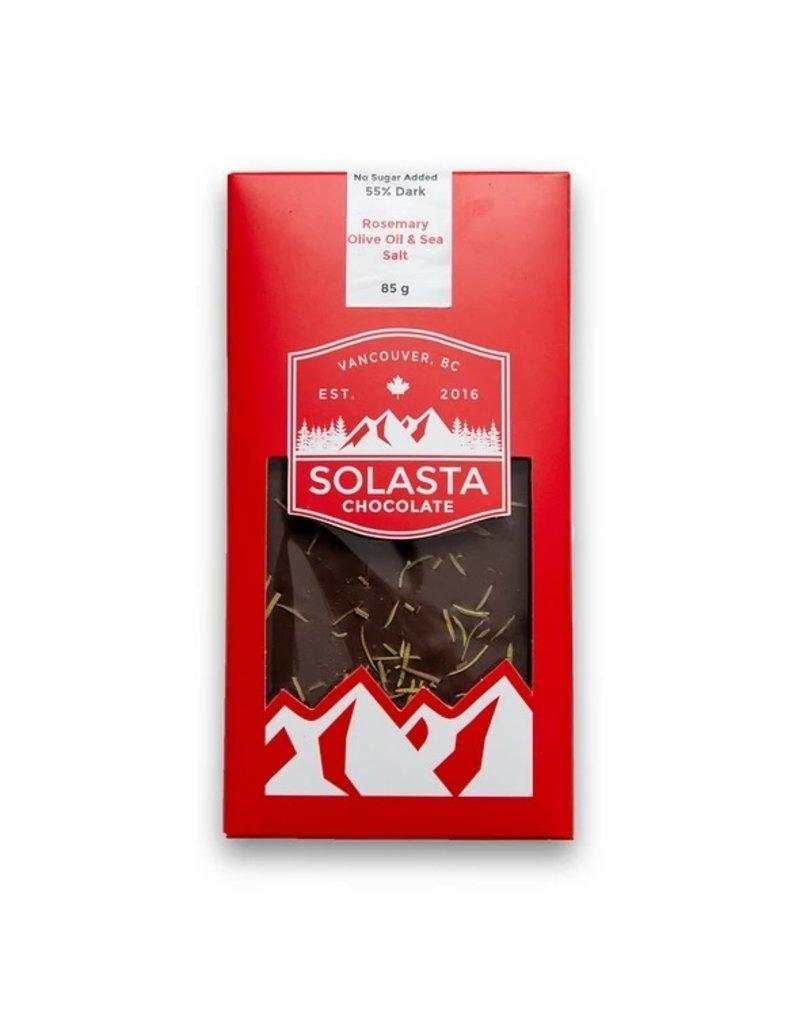 Solasta Rosemary Olive Oil & Sea Salt Dark Chocolate