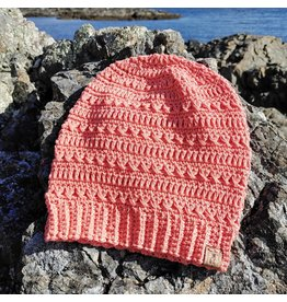 Tillys Cozy Hooks Sitka Lightweight Summer Slouchy - Sunrise Coral