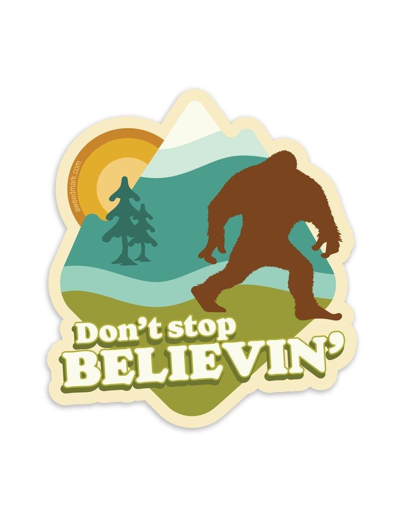 Amanda Weedmark Believin' Bigfoot Vinyl Sticker