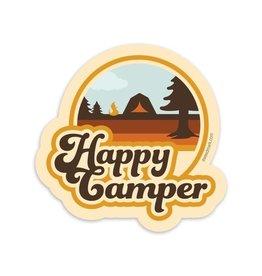 Amanda Weedmark Happy Camper (tent) vinyl sticker