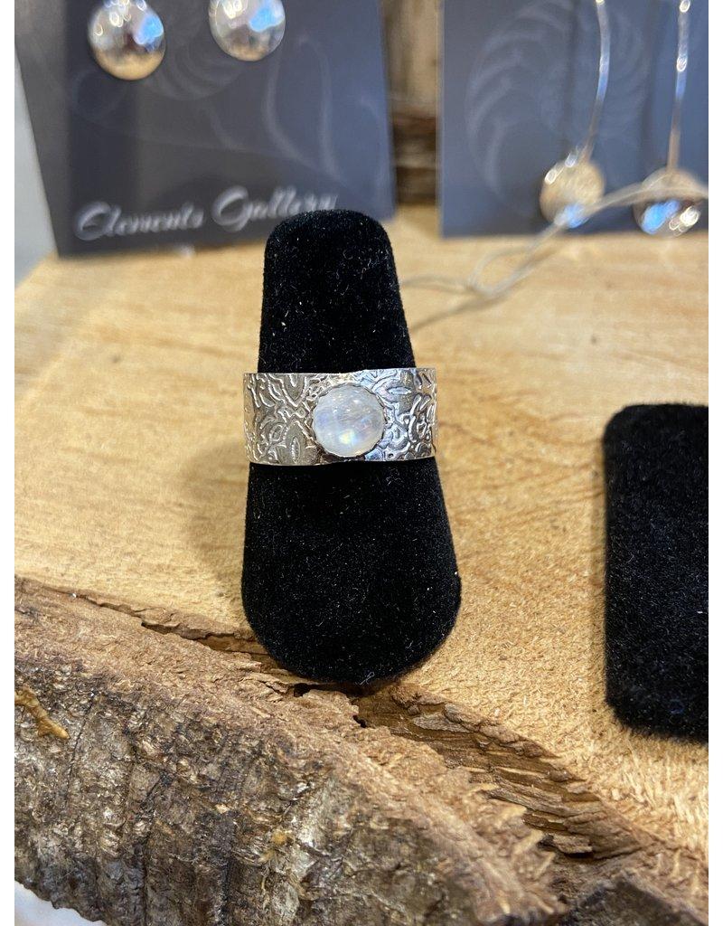 Blackbird Silversmith Moonstone Ring