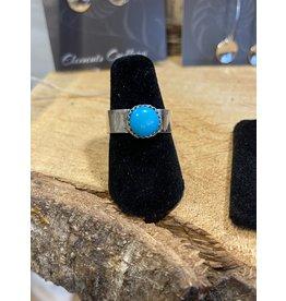Blackbird Silversmith Blue Solitaire Ring
