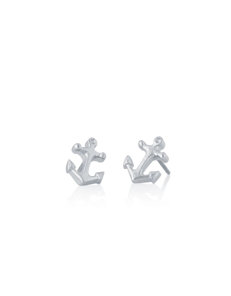 Amos Pewter Anchor Post Earrings