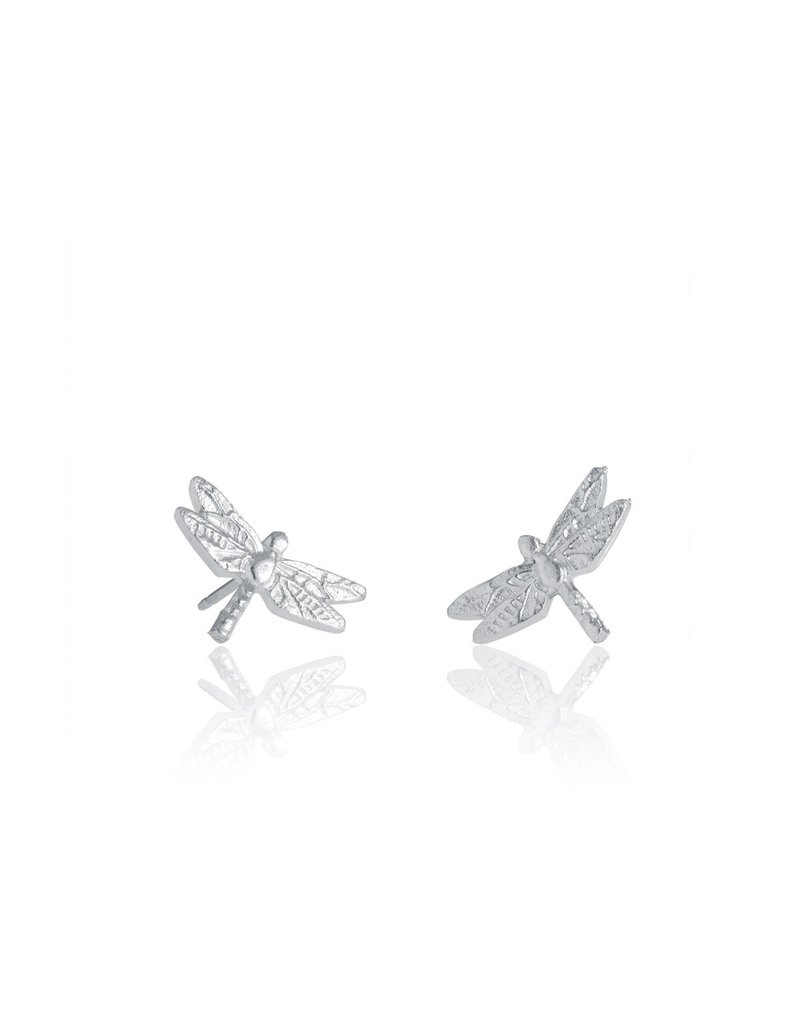 Amos Pewter Dragonfly Post Earrings