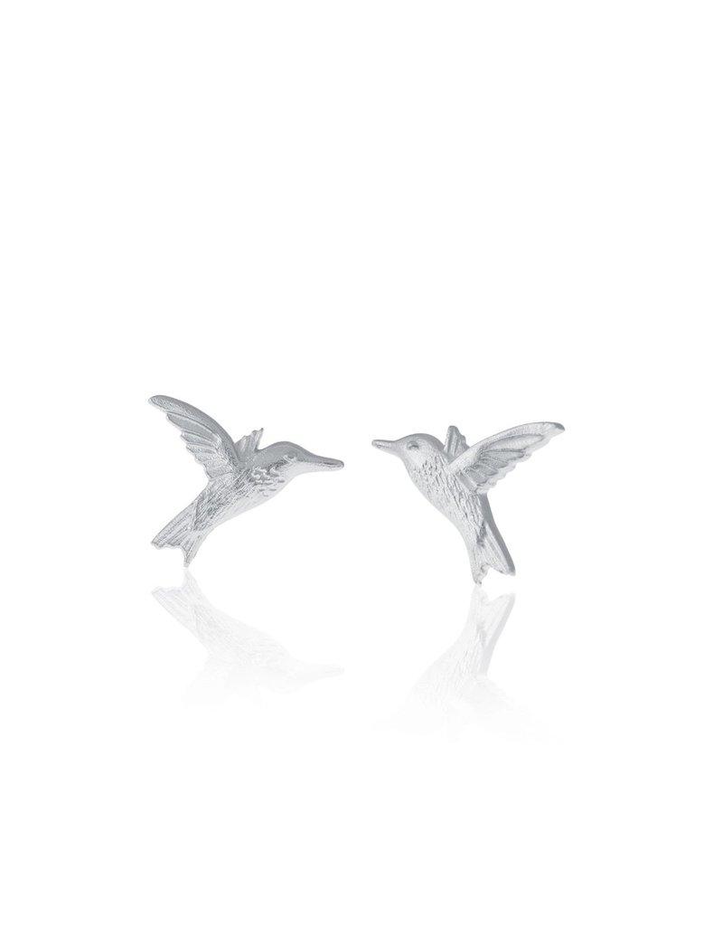 Amos Pewter Hummingbird Post Earrings