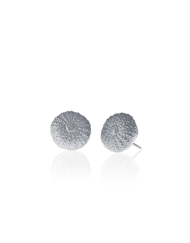 Amos Pewter Sea Urchin Pierced Post Earrings