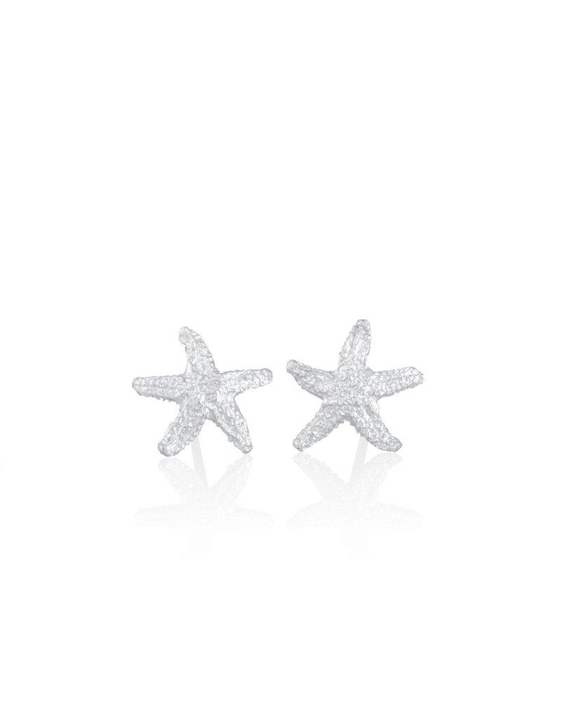 Amos Pewter Starfish Pierced Post Earrings