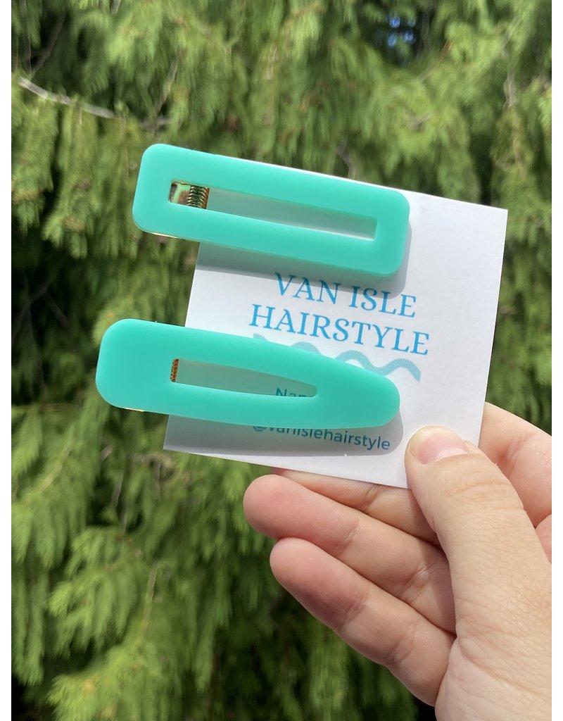 Van Isle Hairstyle Teal Hair Clips (2 Pack)