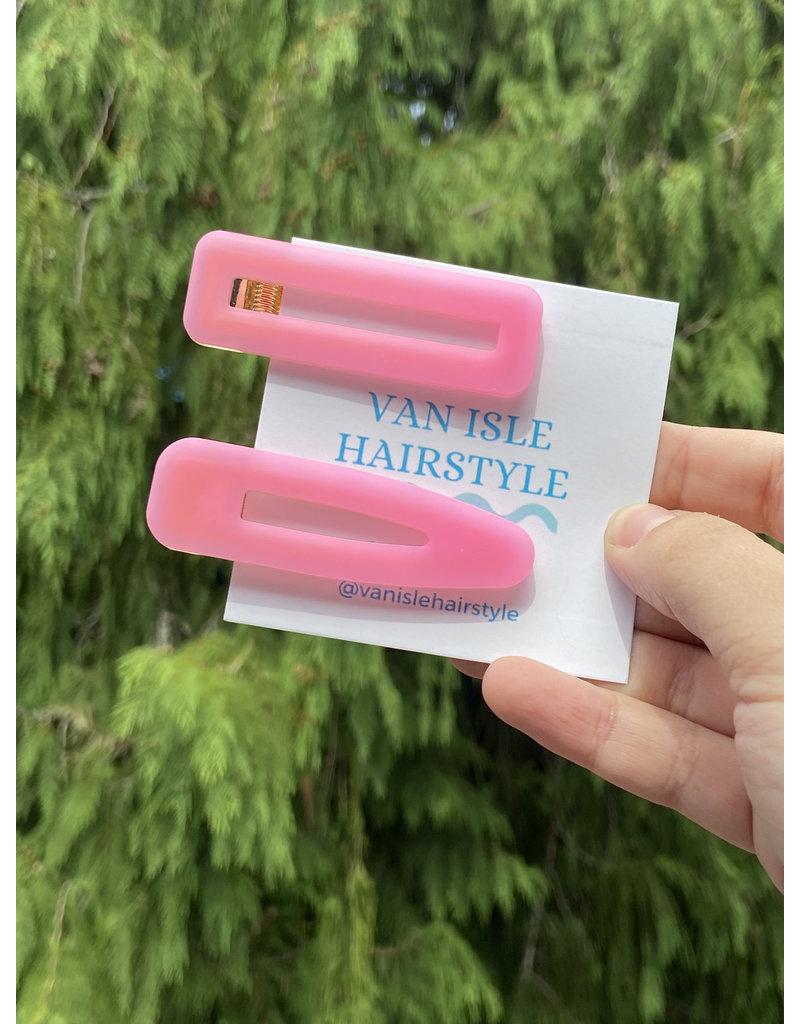 Van Isle Hairstyle Baby Pink Hair Clips (2 Pack)