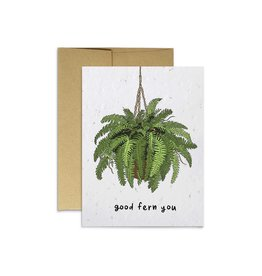 Party Mountain Paper Co Good Fern You Card