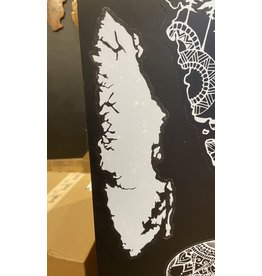 Cultured Coast Vancouver Island Decal (white)