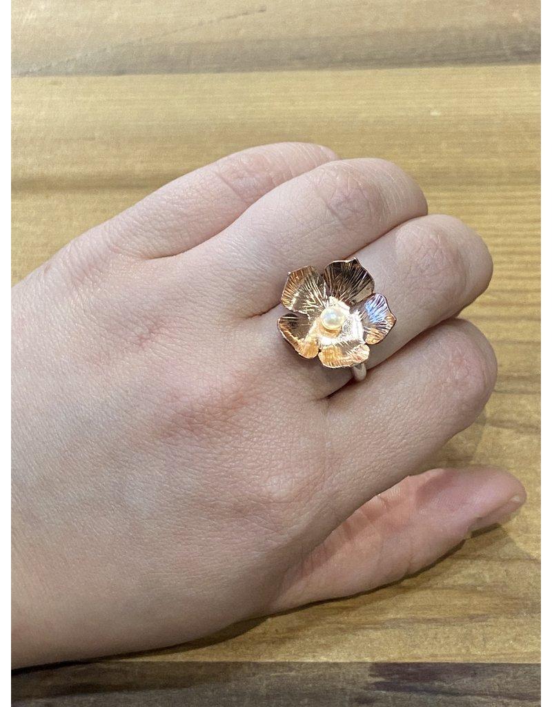 Blackbird Silversmith Daisy Ring #3 Size 7