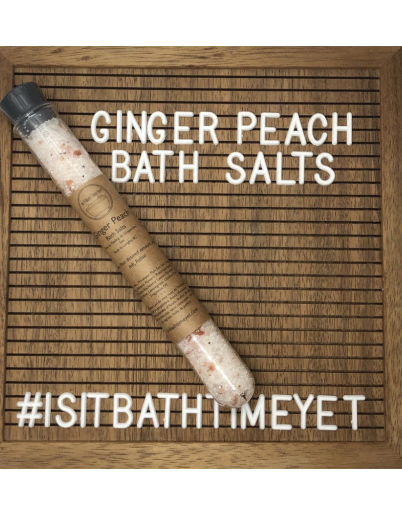 Is It Bath Time Yet? Ginger Peach Bath Salts