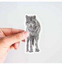 Pen on Paper Co Wolf Sticker