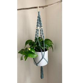 Nordick Knots Twisted Plant Hanger- Slate