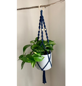 Nordick Knots Twisted Plant Hanger- Navy