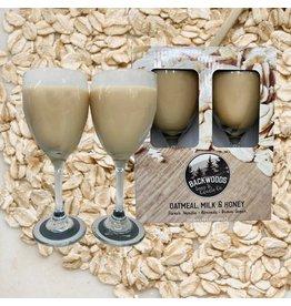 Backwoods Soap & Co Oatmeal Milk & Honey Wine Glass Set