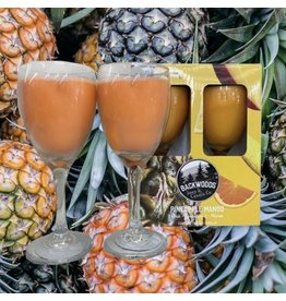 Backwoods Soap & Co Pineapple Mango Wine Glass Set