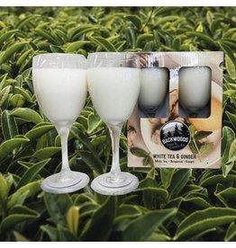 Backwoods Soap & Co White Tea & Ginger Wine Glass Set