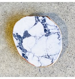 Ellison + Young White Marble w/ Gold Trim Phone Grip