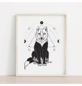 MELI.THELOVER Wolf Mystic Art Print