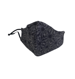 Buffy's Face Diapers Black Flower Mask