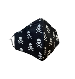 Buffy's Face Diapers Skull and Crossbones Mask