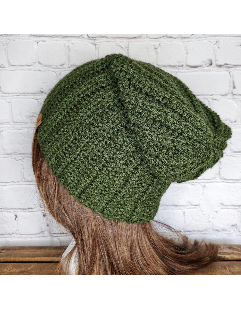 Tillys Cozy Hooks Slouchy Hat - Green