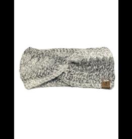 Tillys Cozy Hooks BOHO Twisted Headband- Grey