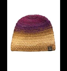 Tillys Cozy Hooks Kaleidoscope Beanie- Purple/Tan