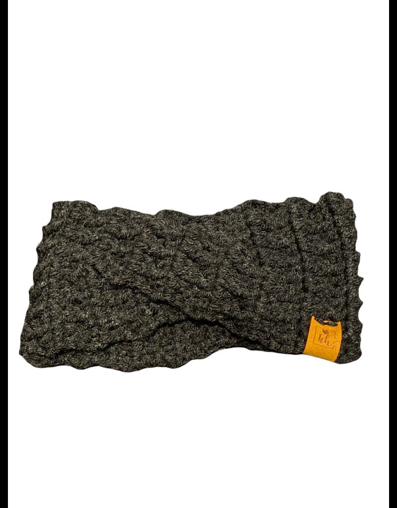 Tillys Cozy Hooks Indie Crossover Earwarmer- Charcoal Black