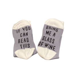 Sock Barn Womens If you can read this socks - Wine