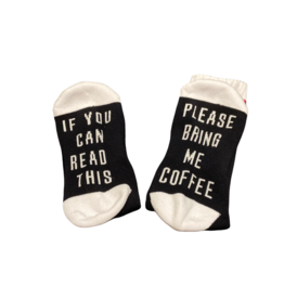 Sock Barn Mens If you can read this socks - Coffee
