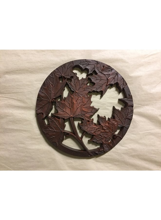 Recycled Glass Trivet Maple Leaf