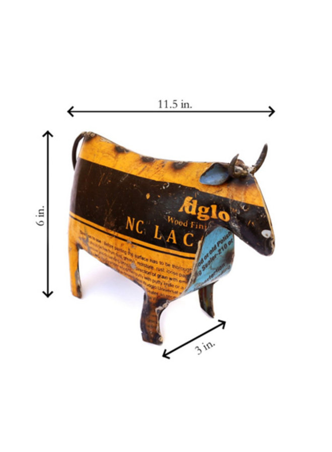 Cow Figurine - Recycled Metal