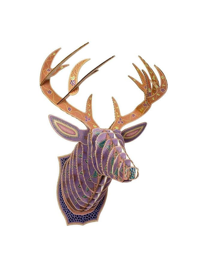 Large Patterned Cardboard Animal Head