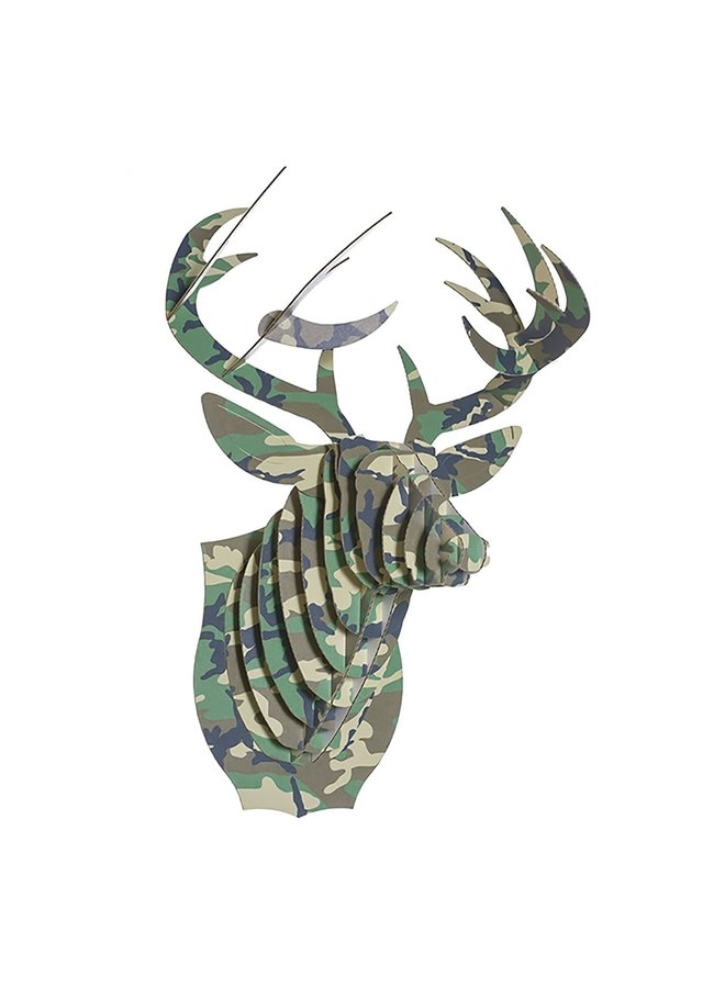 Medium Patterned Cardboard Animal Head