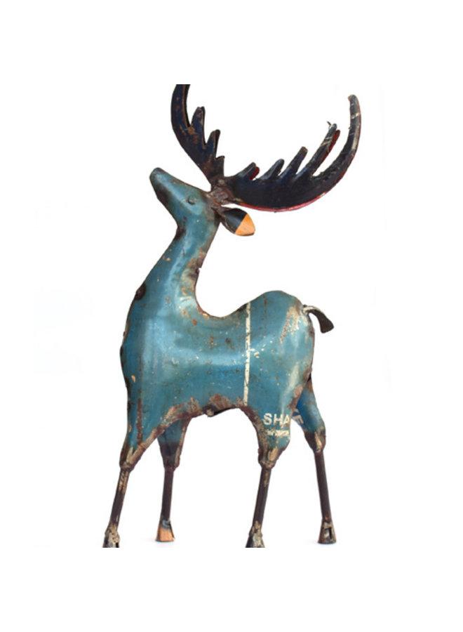 Deer Figurine - Recycled Metal