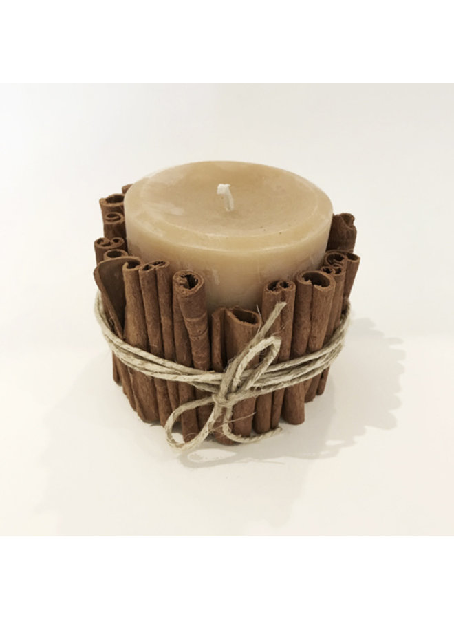 Cinnamon Stick Beeswax Candle