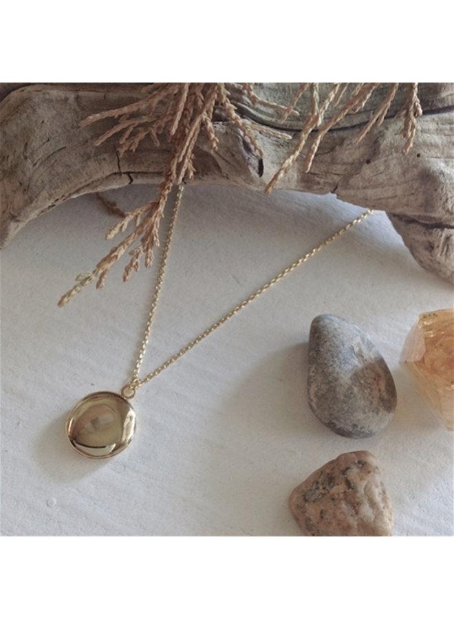 Tiny Gold Locket Necklace