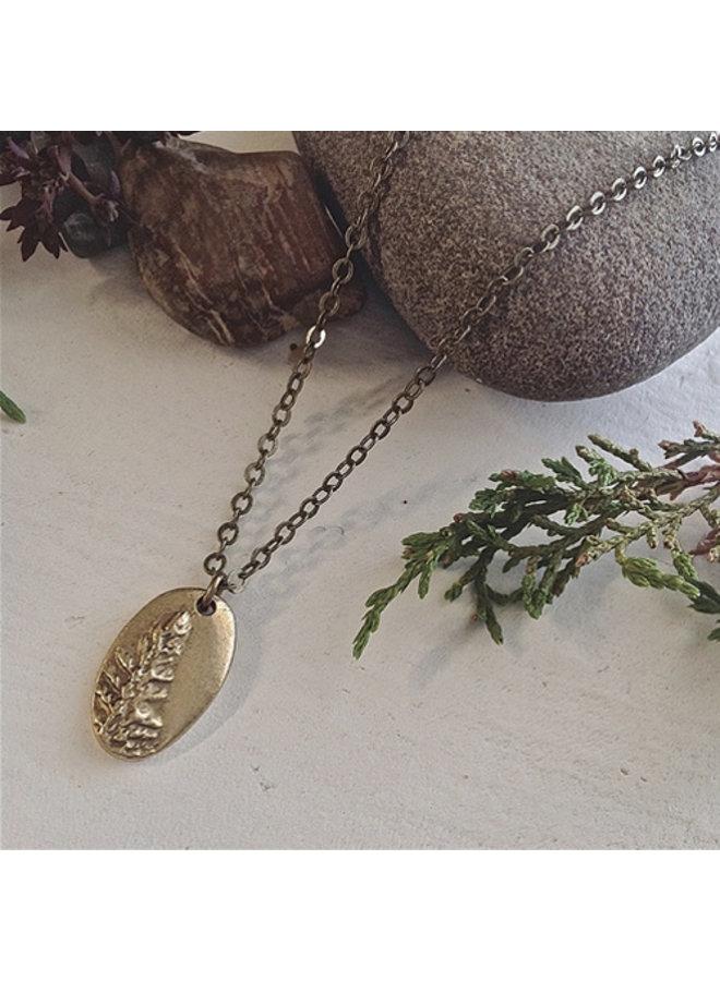 Oval Shaped Tree Talisman Necklace