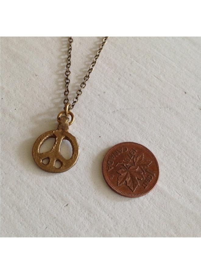 Peace Sign Talisman Necklace
