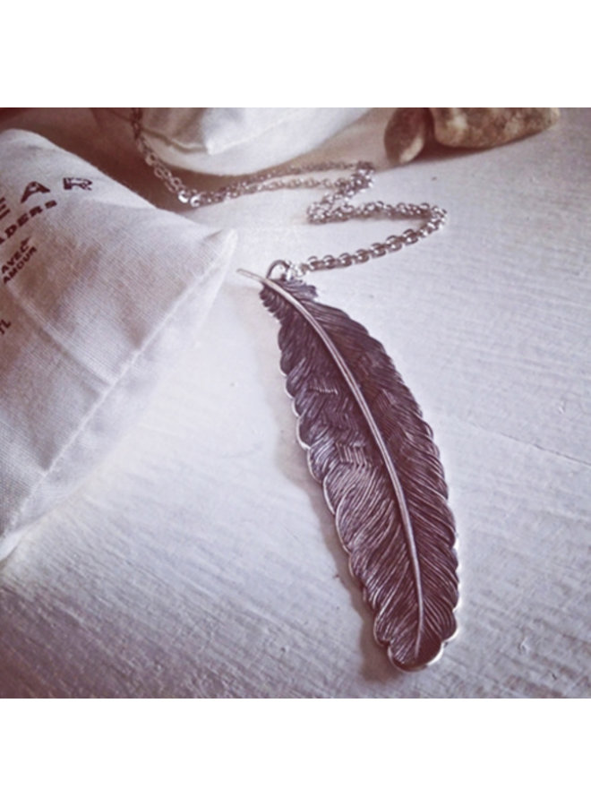 Quill Large Feather Necklace