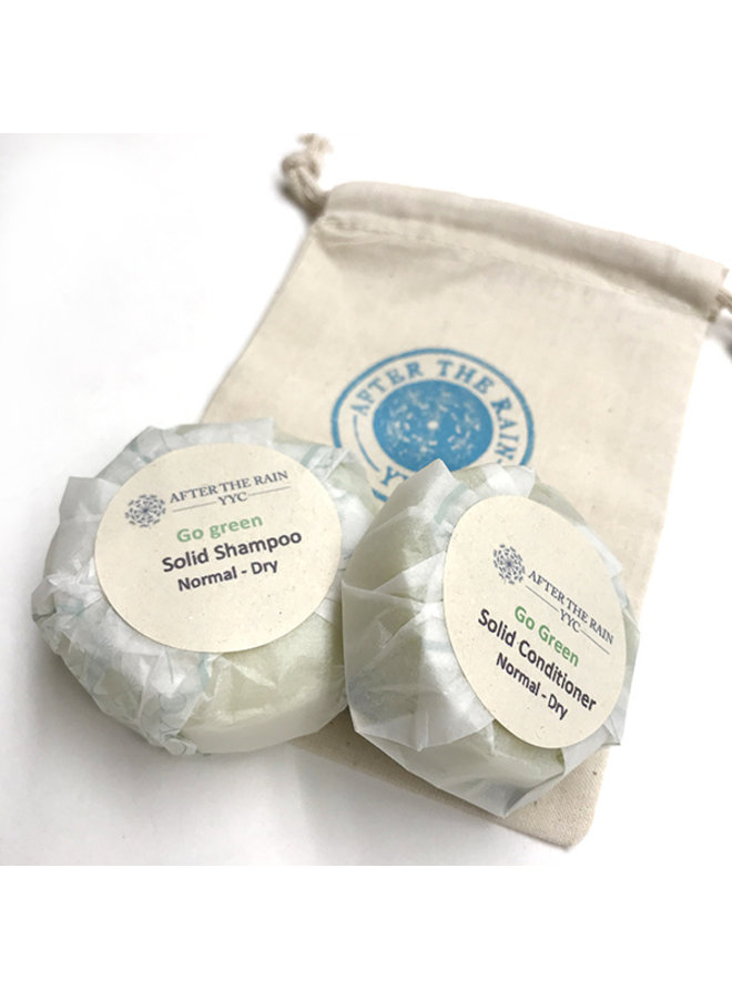 After The Rain Shampoo & Conditioner Bar Set