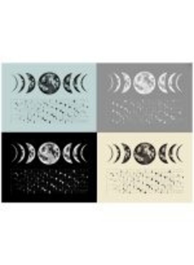 2020 Moon Phase Tea Towel
